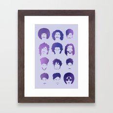 Purple royalty / hairstyle phases through the years Framed Art Print