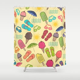 Beach Essentials Shower Curtain