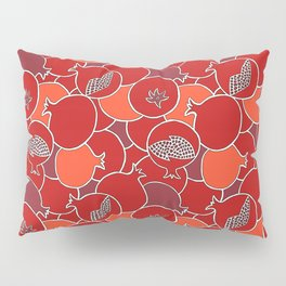 Pomegranate Harvest with Fruit and Seeds Pillow Sham