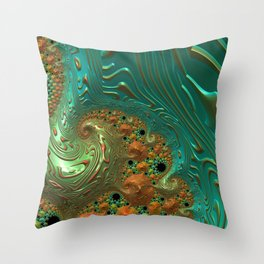 Cool Creamsicle - Fractal Art Throw Pillow