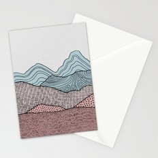 Early Morning Hills, Pastel Illustration Stationery Cards