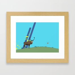The Lone Stag Framed Art Print