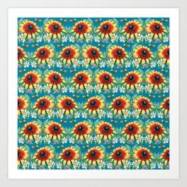Floral pattern Art Print