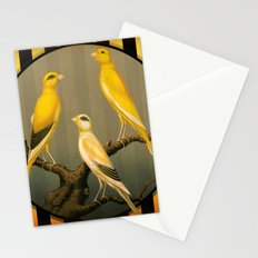 Vintage Canaries Stationery Cards
