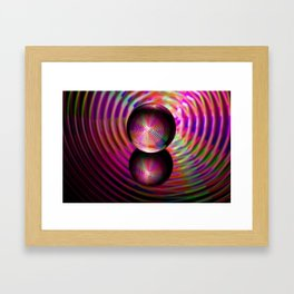 Circle of reds in the crystal ball Framed Art Print