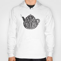 house stark Hoodies featuring TEA TIME. ANY TIME. by Matthew Taylor Wilson