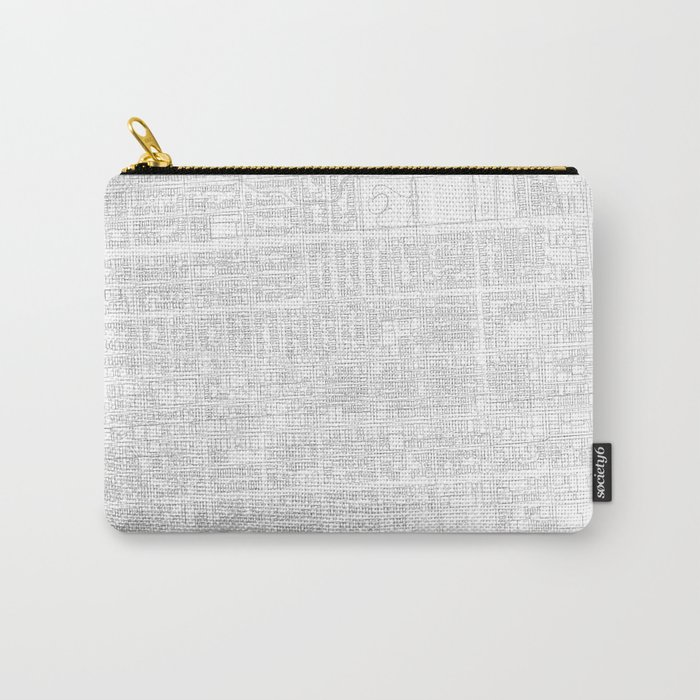 Abstract Map of San Francisco's Mission Neighborhood Carry-All Pouch