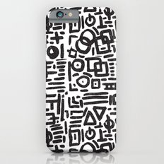 ABSTRACT 4 - BLACK & WHITE Slim Case iPhone 6
