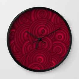 Dark Red Wall Clock