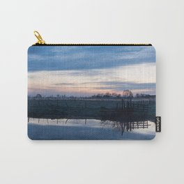 Sunset over a spring river Biebrza in Poland Carry-All Pouch