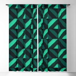 Concrete wall - Emerald green Blackout Curtain
