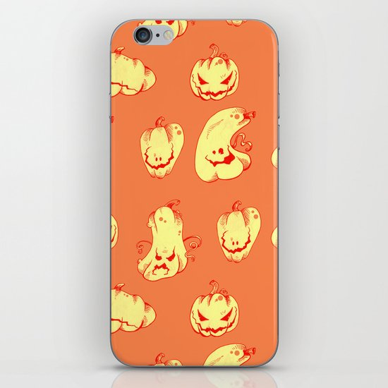 Crazy Pumpkin Party iPhone & iPod Skin