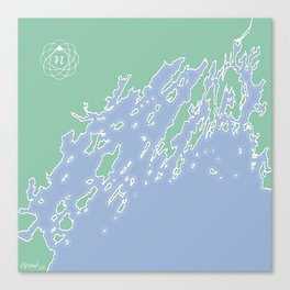 Casco Bay Maine USA Canvas Print