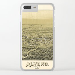 Aerial View of Alvord, Texas (1890) Clear iPhone Case