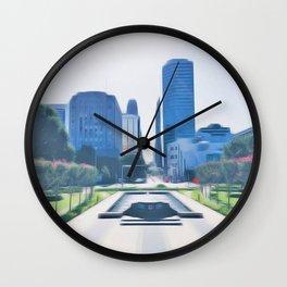 OKC Summers Wall Clock
