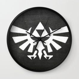Chalkboard Legend Of Zelda Triforce Wall Clock