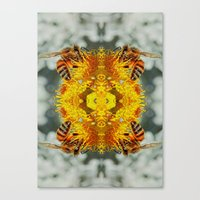 bees Canvas Prints featuring bees by Abraham Cervantes