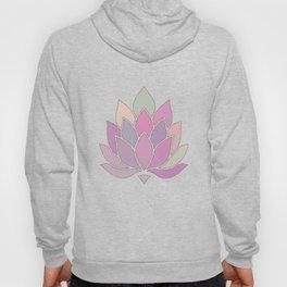 Lotus Flower Pastel Meditation Yoga Symbol Hoody