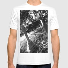 A Dark Vision White MEDIUM Mens Fitted Tee