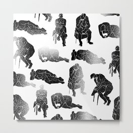 b&w fading figures Metal Print
