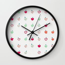 Manzana paper cut Wall Clock