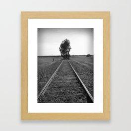 Tree tracks Framed Art Print