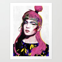 grimes Art Prints featuring Grimes by Zaneta Antosik