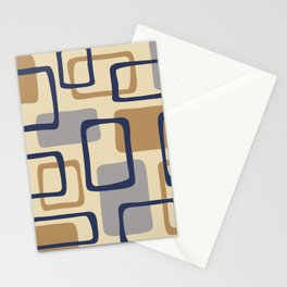 Mid Century Modern Abstract Squares Pattern 429 Stationery Cards