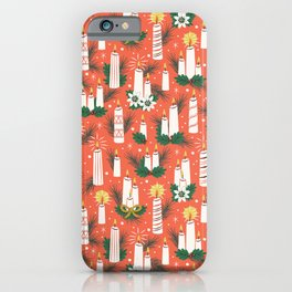 Vintage Christmas Candles iPhone Case