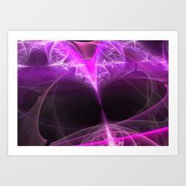 The beginning-attraction- fractal heart Art Print