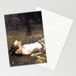 OPHELIA - JOHN WILLIAM WATERHOUSE Stationery Cards