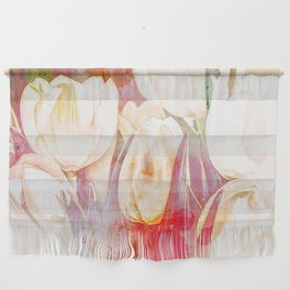 Tulip Fever Abstract Art Wall Hanging