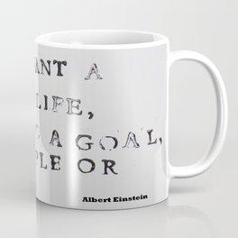 Albert Einstein Quote Happy Life Coffee Mug