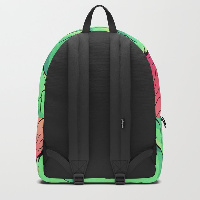 Lime tone mountains Backpack