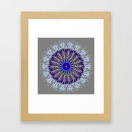 Mandala #102, Taupe Framed Art Print