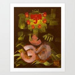 Sleeping Ganesh Art Print