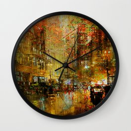 An evening in Detroit Wall Clock