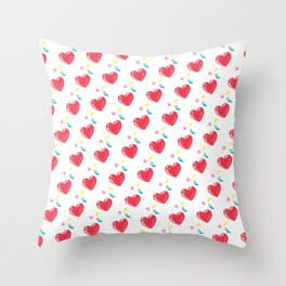heart hearts Throw Pillow