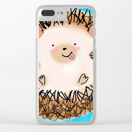ok!troublemaker hedgehog sticking tongue out Clear iPhone Case