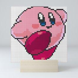 Classic Pixel Kirby Mini Art Print