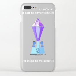 R_M-- literal call to adventure Clear iPhone Case