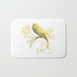 Pastel Green Parakeet Bath Mat