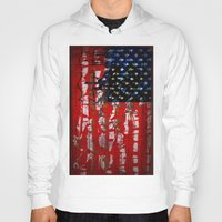 flag Hoodies featuring Flag by Milton