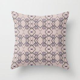 Blush Pink Purple Flower Patten Design Throw Pillow