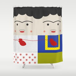 Las Dos Fridas (inspired on Frida's painting) Shower Curtain