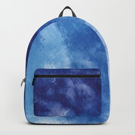 Forest and sky watercolor Abstract V16 Backpack
