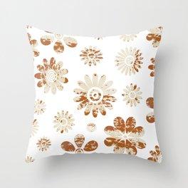Shabby Flowers Throw Pillow