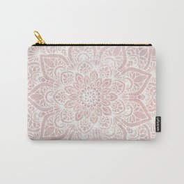Mandala Yoga Love, Blush Pink Floral Carry-All Pouch