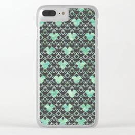 Mouse Ears Watercolor - Jasmine Mint Clear iPhone Case