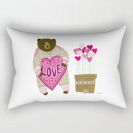 Bear with loveheart Rectangular Pillow